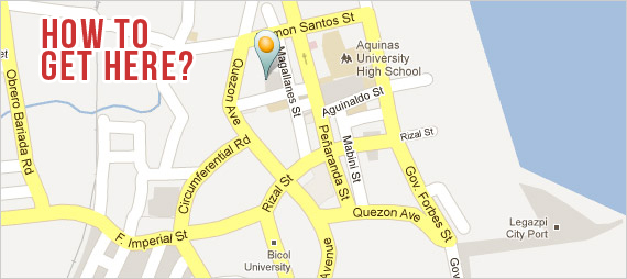 A Bichara Silverscreens Entertaiment Center - Legazpi city map